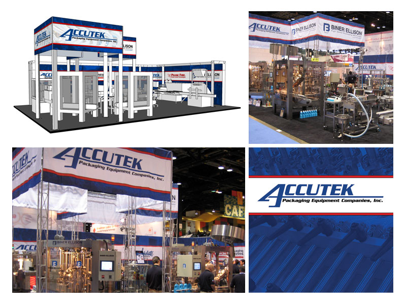 Accutek Packaging PackEXPO Booth Concept